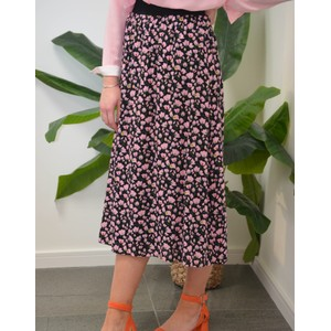 Custommade Gula Floral Skirt Anthracite Black