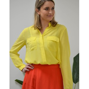 Athalie Silk Long Sleeve Shirt Buttercup