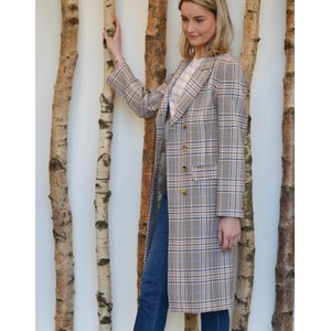 Levete Room Elizabeth Coat Blue/Peach