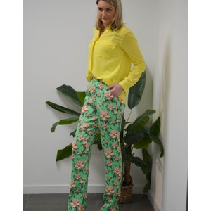 Rika Floral Trousers Irish Green