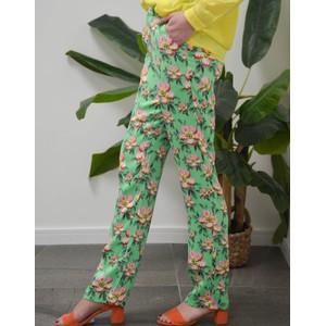 Custommade Rika Floral Trousers Irish Green