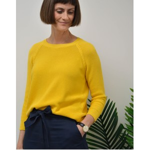 Weekend Maxmara Fiorigi Cotton Jumper Yellow