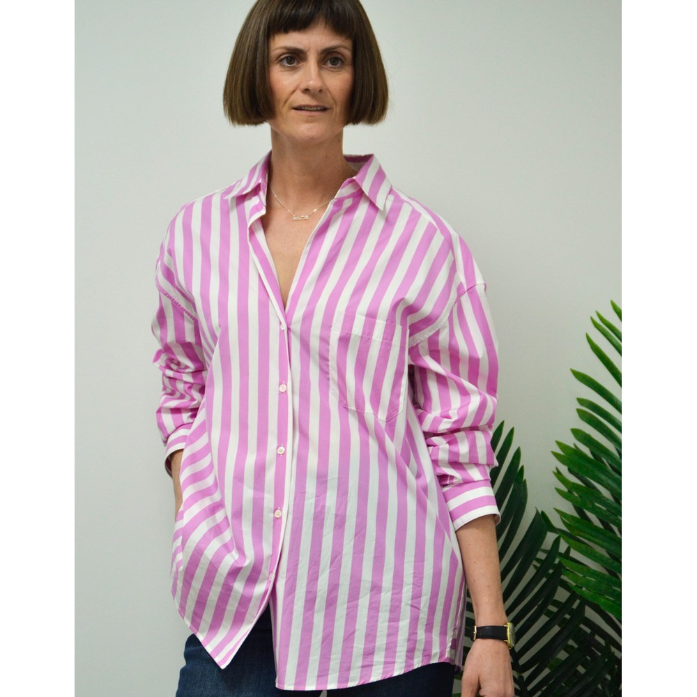 Weekend Maxmara Bembo Striped Blouse Candy Pink/White