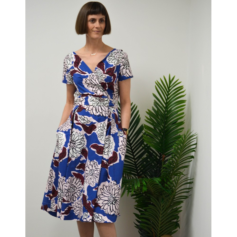Weekend Maxmara Oronte Poplin Dress Cornflower