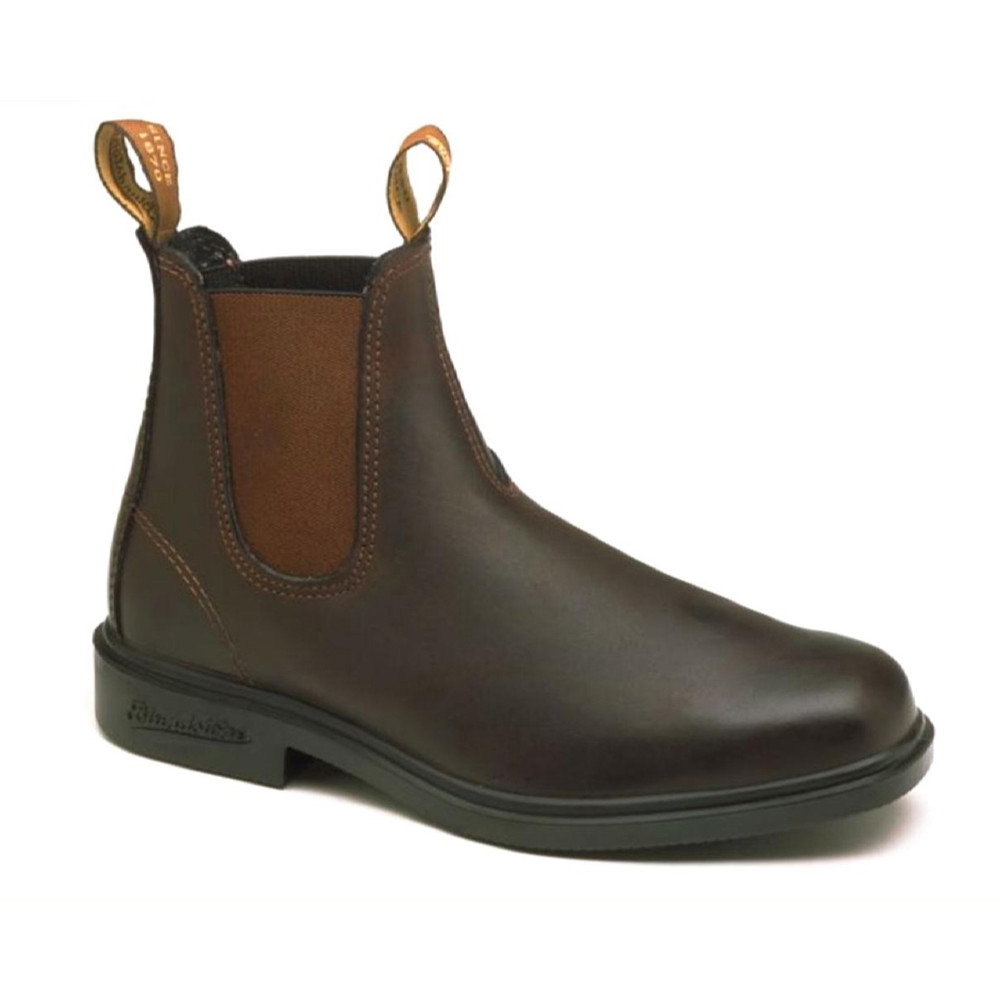 Blundstone Chisel Toe Boot with Stretch Sides Rustic Brown