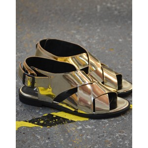 Piper Strap Sandal Metallic Mirror/Gold