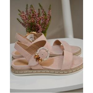 Embellished Strap Sandal Rose