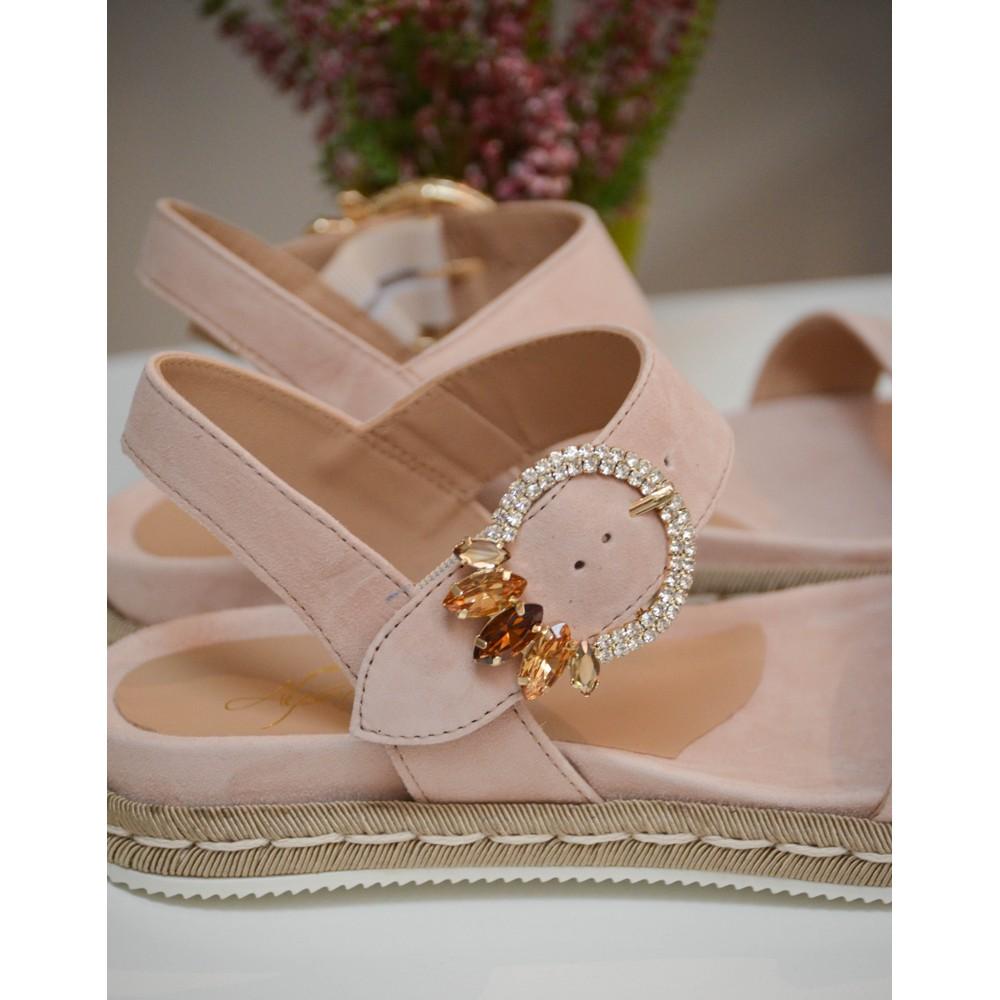 Alpe Embellished Strap Sandal Rose