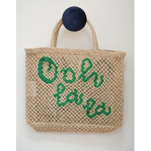 Ohh La La Jute Bag Natural/Green