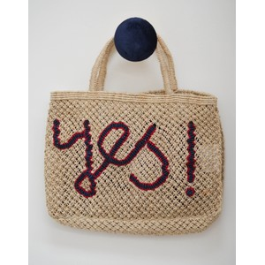 Yes Jute Bag Natural/Blue/Red