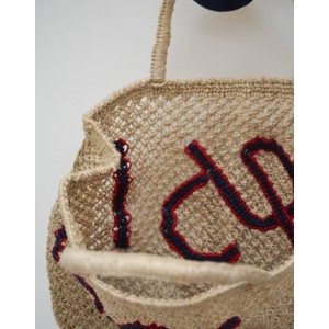 The Jacksons Yes Jute Bag Natural/Blue/Red