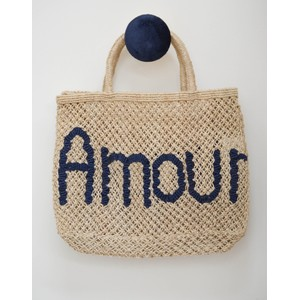 Amour Jute Bag Colbart Blue/Natural