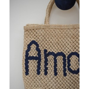 The Jacksons Amour Jute Bag Colbart Blue/Natural