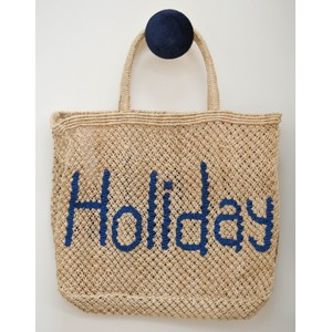 Holiday Jute Bag Natural/Blue