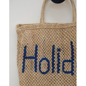 The Jacksons Holiday Jute Bag Natural/Blue