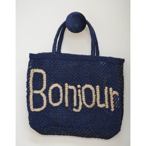 Bonjour Jute Bag Colbart Blue/Natural