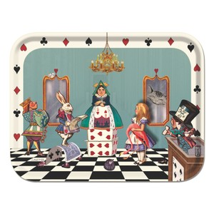 Alice in Court of Hearts Tray Multi