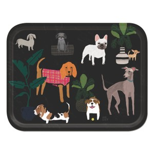 Dog Large Tray Black/Multi