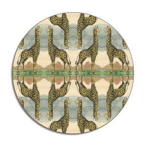 Giraffe Placemat Green/Blue