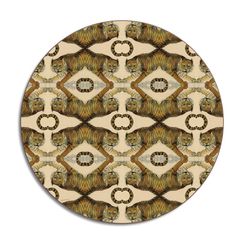 Avenida Home Tiger Placemat Brown
