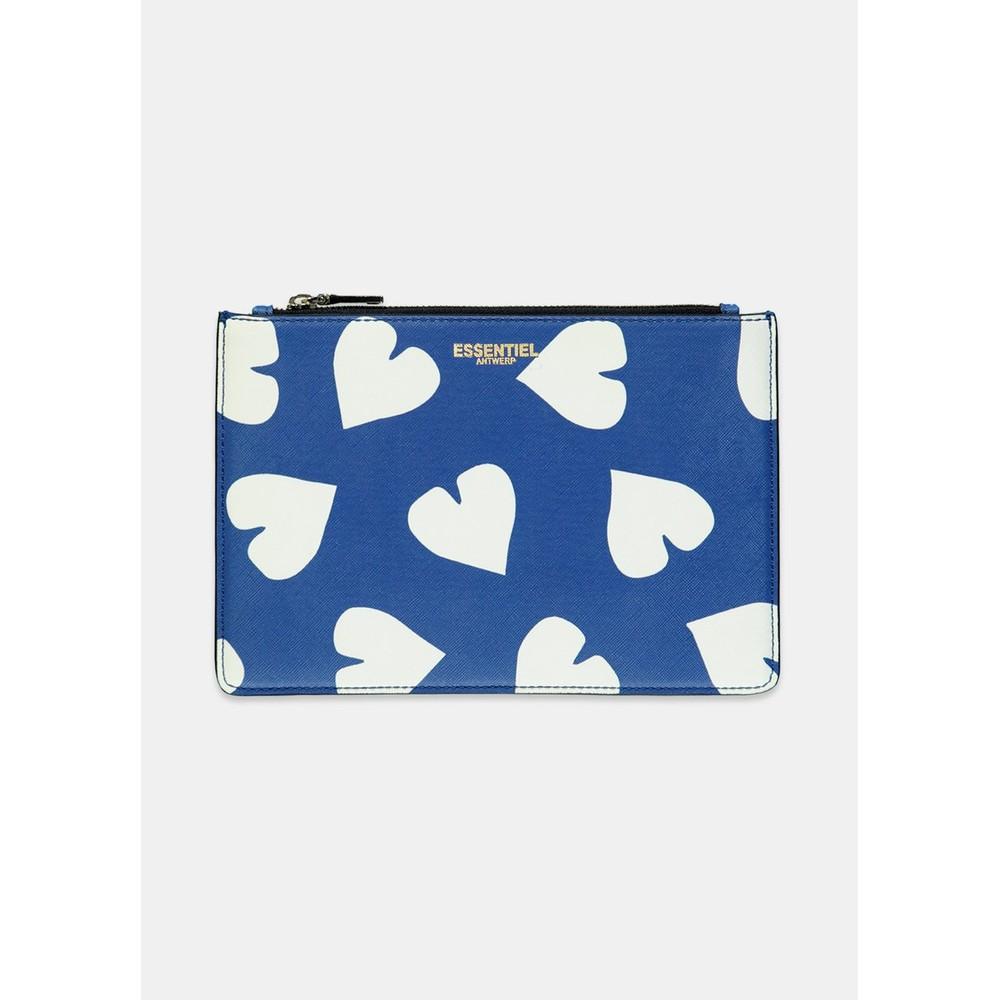 Essentiel Antwerp Selma Heart Clutch Colbart Blue