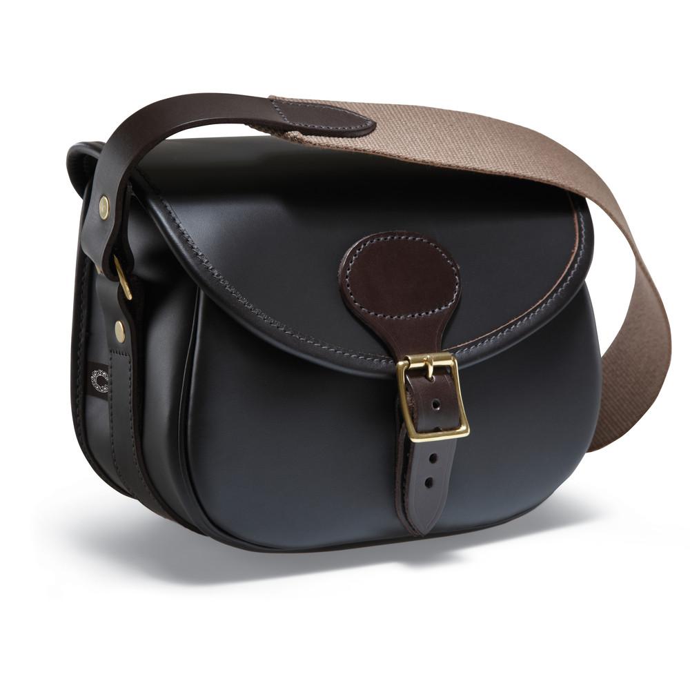 Croots Byland Leather Cartridge Bag Dark Havana
