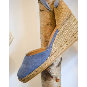 Castañer Carina Wedge in Light Blue