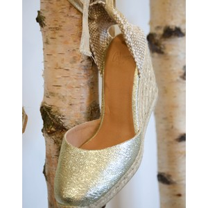 Carina Gold Wedge Gold