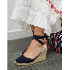 Carina Wedge Navy Blue