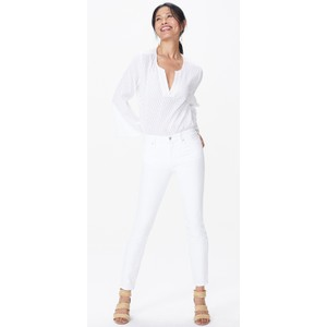 Alina Ankle Jean Optic White