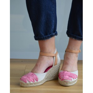 Port Hi Wedge Espadrille Red