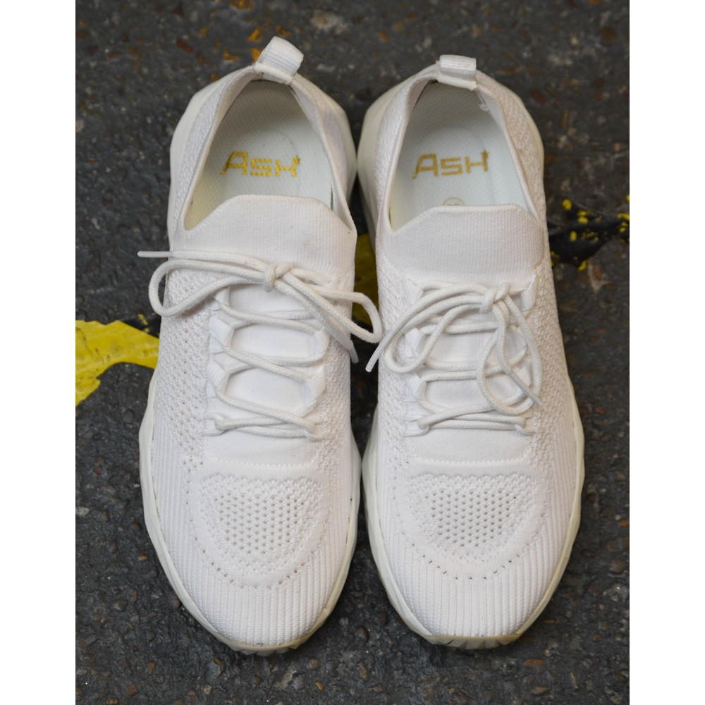Ash Skate Knit Trainer White