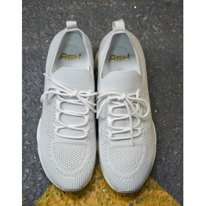Lunatic Knit Trainer White Marble