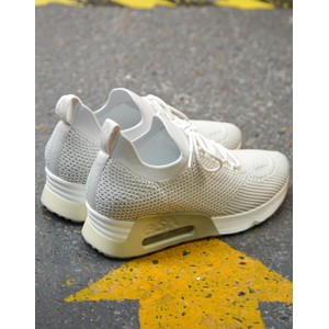 Ash Lunatic Knit Trainer White Marble