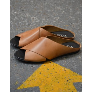 Marocco Slide Sandal Dark Tan