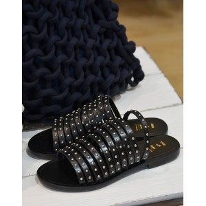 Shoe The Bear Jenna Studs Sandal in Black