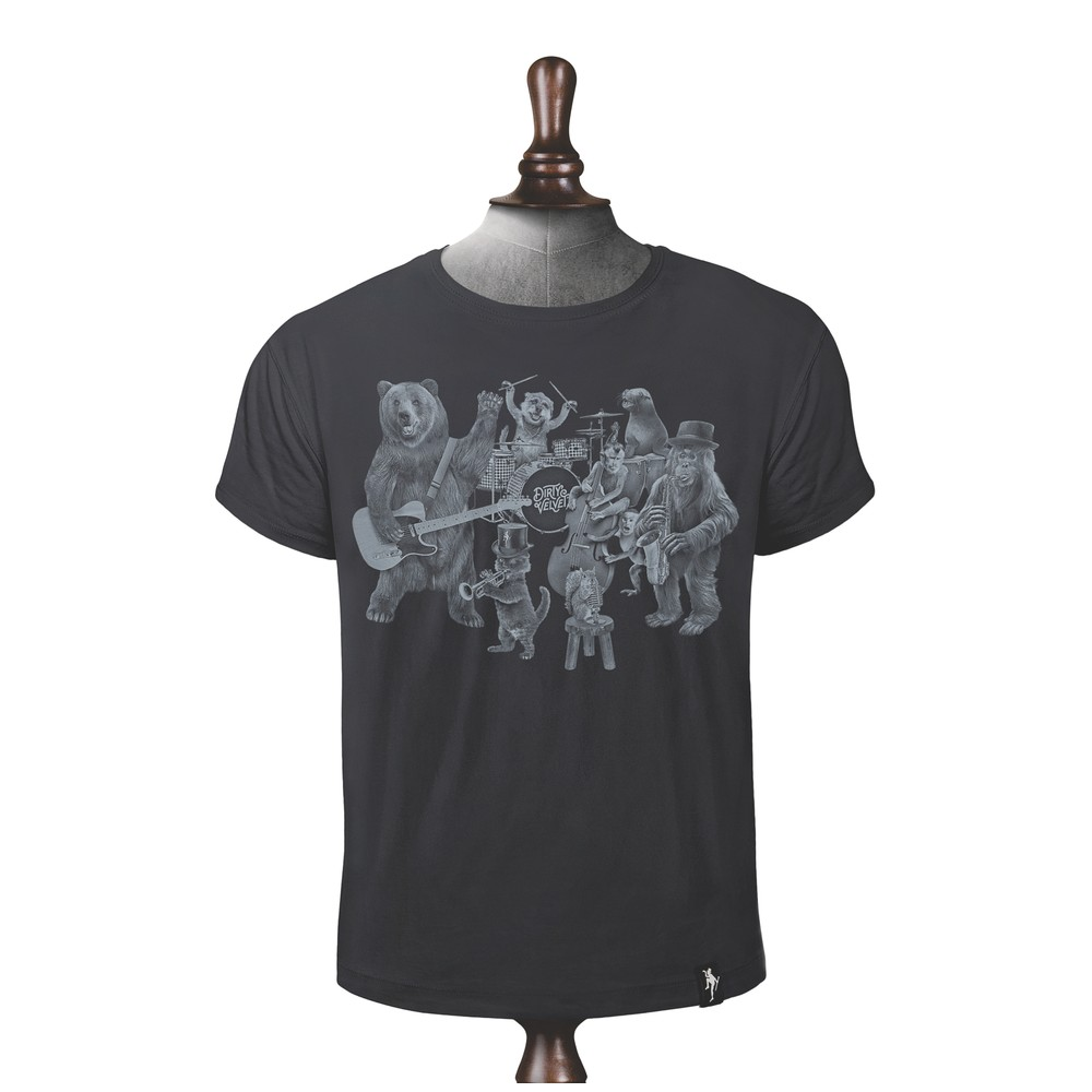 Dirty Velvet The Wild Bunch T Shirt Charcoal