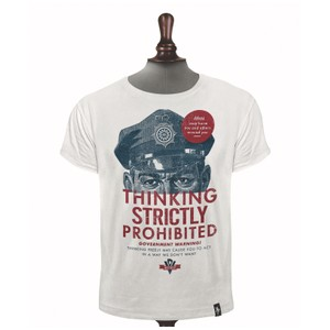 Thinking Prohibited T Shirt White