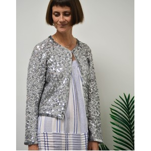 Rae Feather  Sequin Jacket Silver