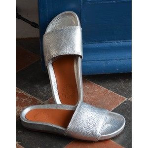 Penelope Chilvers Sol Metallic Slide in Silver
