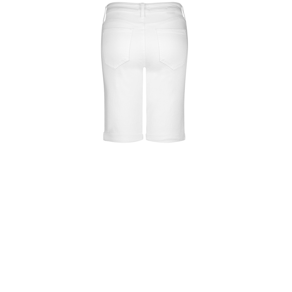 NYDJ Briella Roll Cuff Short Optic White