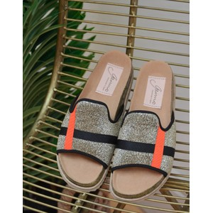Bale Lurex Slide Gold/Black/Orange