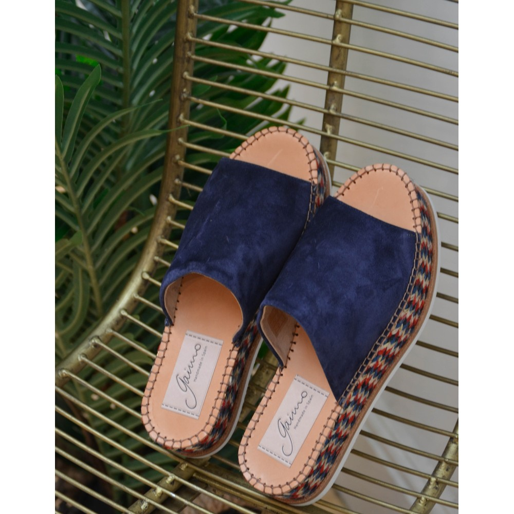 Gaimo Juana Suede Platform Navy/Red/White/Gold