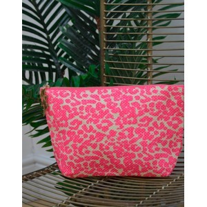Leopard Wash Bag Pink/Cream