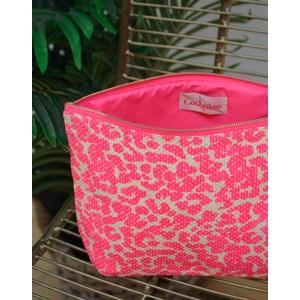 Cockatoo Leopard Wash Bag Pink/Cream