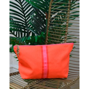 Stripe Wash Bag Orange