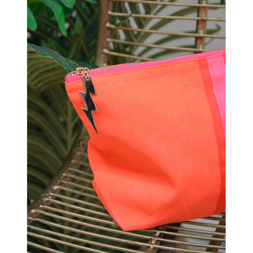Cockatoo Stripe Wash Bag Orange