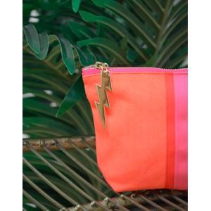 Cockatoo Stripe Make Up Bag Orange