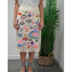 Snappy Embroided Skirt Off White