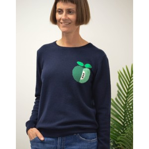 Apple Pip Crew Knit Navy/Green